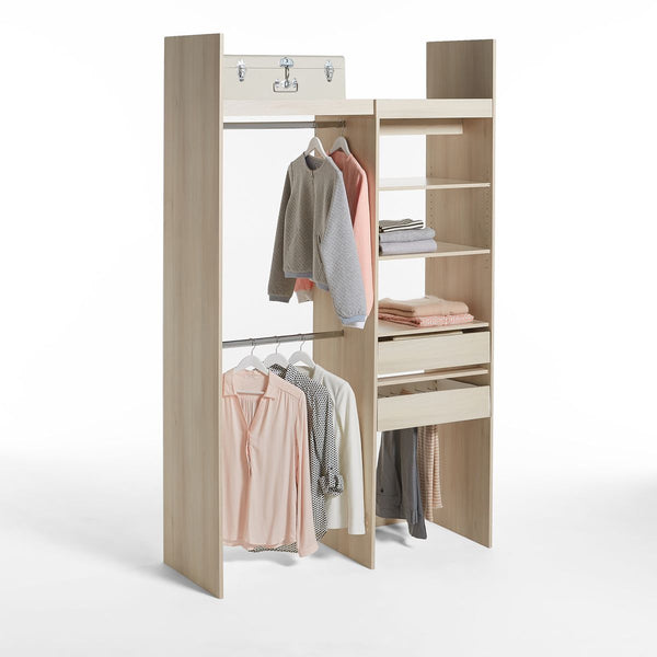 Dressing modulable 1 colonne et 2 penderies INDROIS