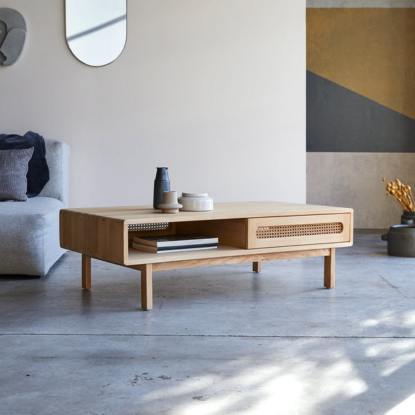 Table basse Avirons en orme naturel