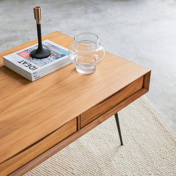 Table basse Somme en teck naturel