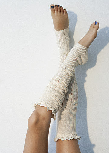 Our Cute New Ivory Lace  Legwarmers!