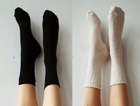 Black and White Basics Socks Gift Pack, Crew Socks, Everyday Socks, Socks Gift Set, Soft Comfy Socks, Knitted Socks, Cotton PM2PK-092KI