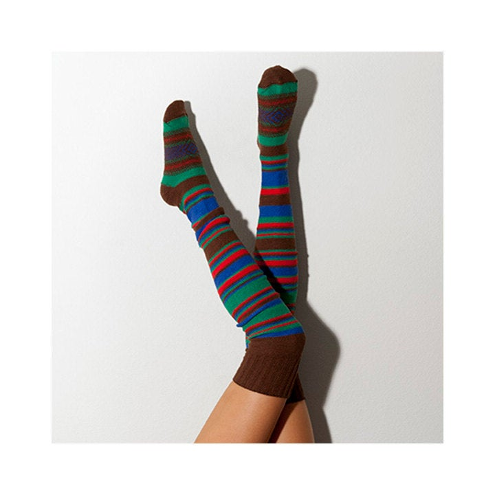 Thigh High Socks, Multi color Sweater Socks, Women's Long Over the Knee Socks, Knitted Boot Socks, OTK Thigh Highs, Stockings, PM-130