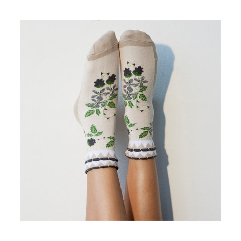 Socks for Her Gardening Gifts for Women Slippers for Grandma Auntie Unique Gift for Mom Handmade for Teenage Girl  Lingerie  Floral PM-059