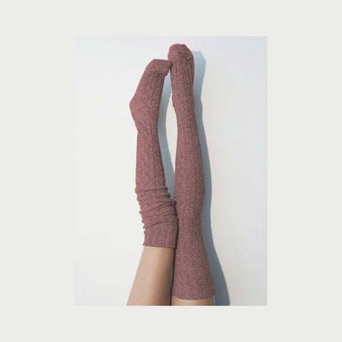 Thigh High Socks, Red Sweater Socks, Women's Long Over the Knee Socks, Knitted Boot Socks, OTK Thigh Highs, Stockings, PM-088M Lingerie