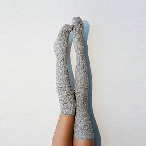 Salt N Pepper Marled Thigh High Socks  PM-088S