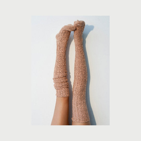 Orange Thigh High Socks, Gift for Her, Tan Over the Knee Knitted Long Socks, Cozy Long Knit Womens Boot Socks, Mom Sister Handmade PM-088T