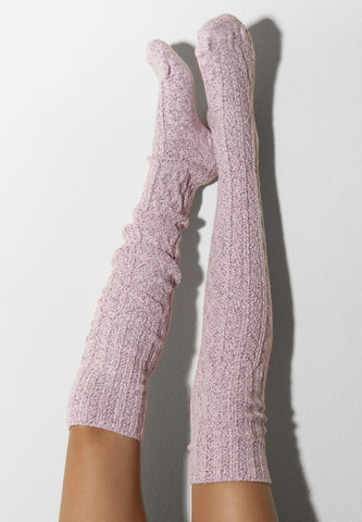 Thigh High Socks, Pink Socks, Cozy Girlfriend Gift, Long Over the Knee Socks, Cable Knitted Boot Socks, OTK Thigh Highs, Fall Accessories