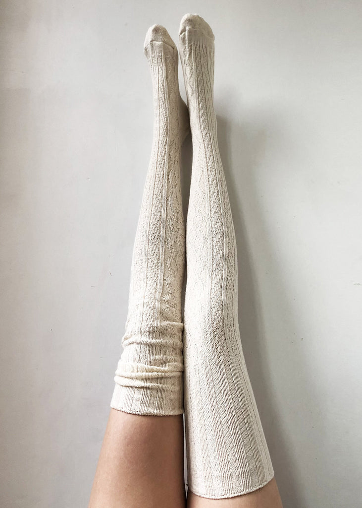 Boho Accessories Hippie Chic Bohemian Thigh High Socks Knitted Sweater Socks Women's Long Over the Knee Eco Friendly Lingerie Unique PM-088I