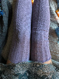 Thigh High Socks, Tall Over The Knee Socks, Sexy Lingerie Cute Socks, Long Knitted Womens Boot Socks, Gift for Her, Purple Lavender PM-088O