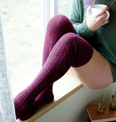 Thigh High Socks, Red Legwarmers Slippers, Bookish Gift Reading Bookworm Book Lover Bookish Merch Library Nerd Valentines Day Gift For Her