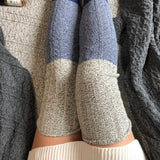 Blue Saphire Thigh High Socks Ombré Color Block Women's Sweater Socks Plus Size Lingerie Sexy Gift Sex Toy Romantic Gift for Her PM-088DD