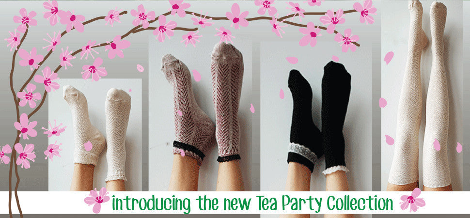 Tea Party Collection Lace Trim Womens Socks