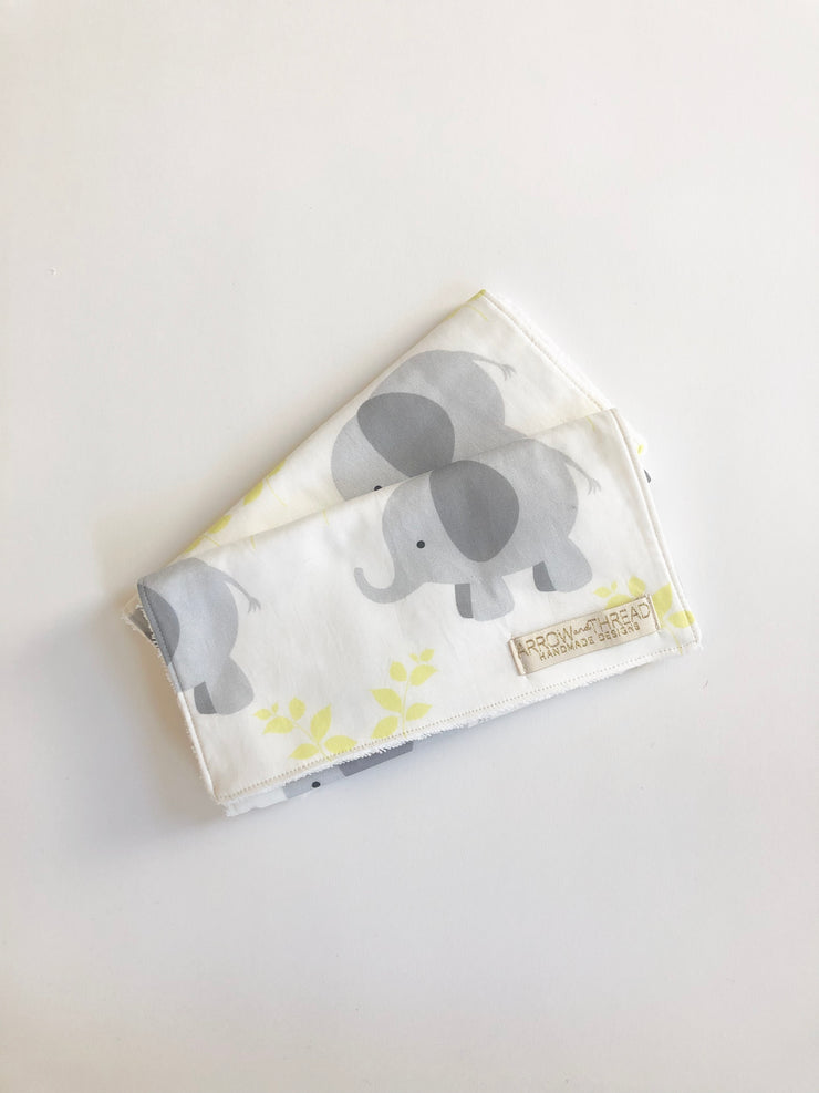 Grey Elephant Burp Cloth
