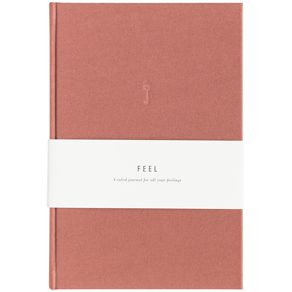 Feel Dusty Rose Linen Journal