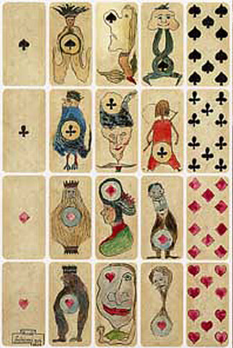 Postkarte »Playing Cards«