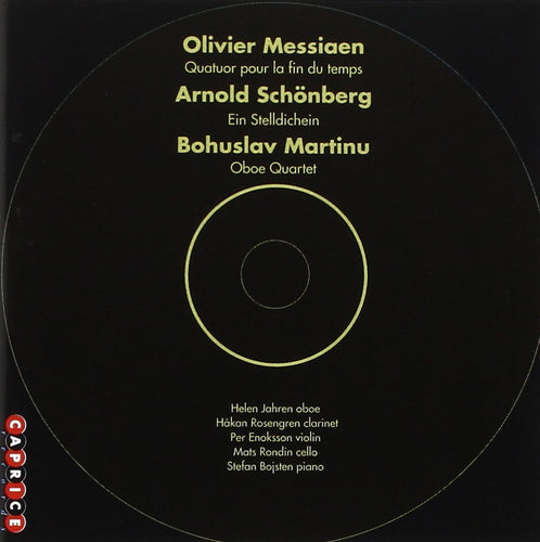 Schönberg, Martinu, Messiaen (CD)