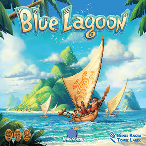 Blue Lagoon - board game - Blue Orange Games - Dice and Counters