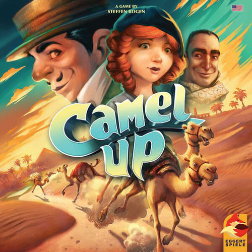 Camel Up 2nd edition - board game - Eggert Spiele - Dice and Counters