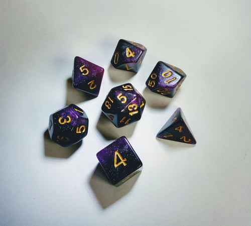 Purple Kingdom Galaxy Dice Set