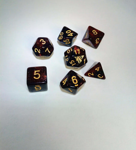 Blood Galaxy Dice Set