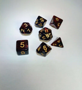 Blood Galaxy Dice Set-Dice-Dice and Counters-Dice and Counters