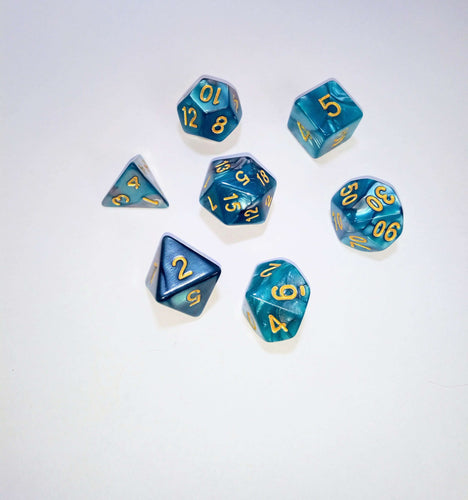 Turquoise Treat Dice Set - Dice - Dice and Counters - Dice and Counters