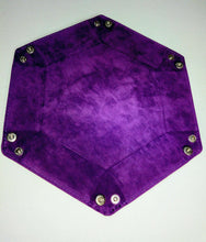 Load image into Gallery viewer, Purple Velvet Dice Tray