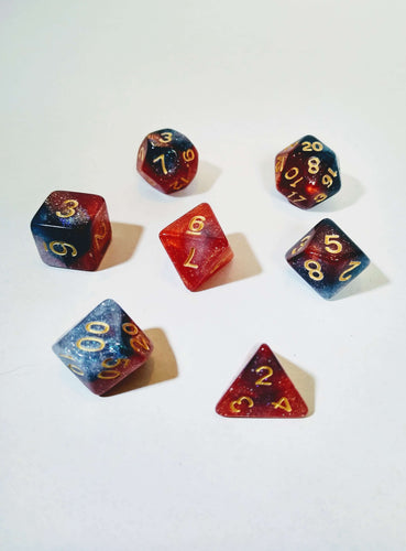 Butterfly Nebula Dice Set-Dice-Dice and Counters-Dice and Counters