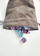 Load image into Gallery viewer, Large Dice Bag-Accessory-Dice and Counters-Grey-Dice and Counters
