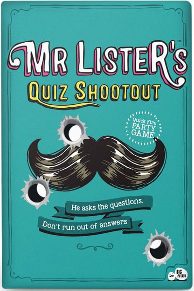 Mr Lister's Quiz Shootout-board game-Big Potato Games-Dice and Counters