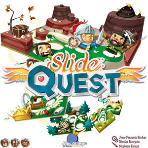 Slide Quest - board game - Blue Orange Games - Dice and Counters
