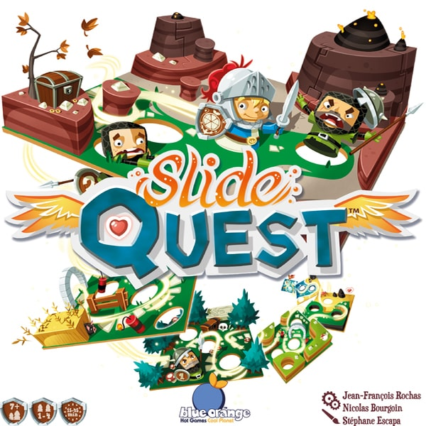 Slide Quest-board game-Blue Orange Games-Dice and Counters