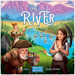 The River - board game - Days of Wonder - Dice and Counters