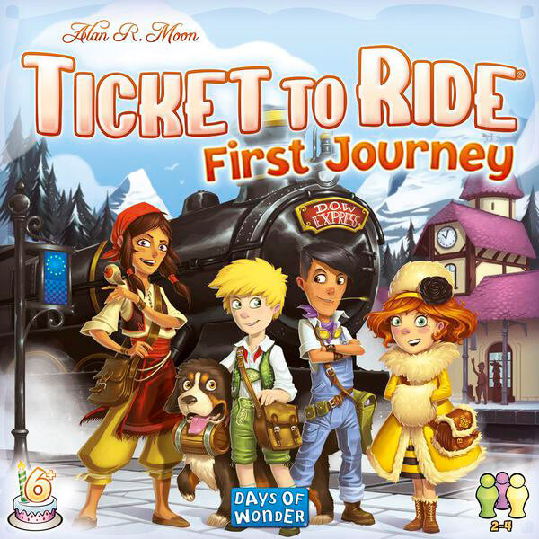 Ticket To Ride First Journey Europe - board game - Days of Wonder - Dice and Counters