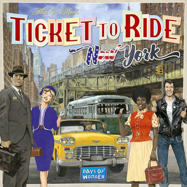 Ticket To Ride: New York - board game - Days of Wonder - Dice and Counters