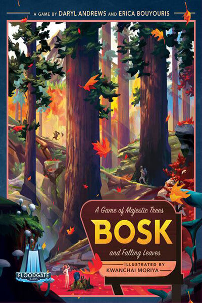 Bosk - board game - Floodgate Games - Dice and Counters
