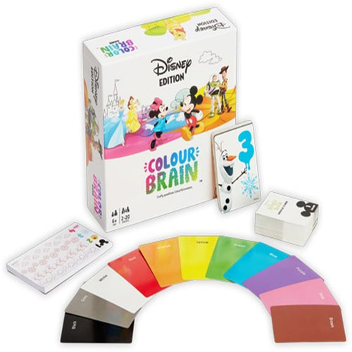 Disney Colour Brain - board game - Big Potato Games - Dice and Counters