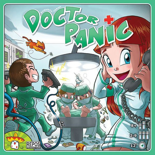 Doctor Panic - board game - Repos Productions - Dice and Counters