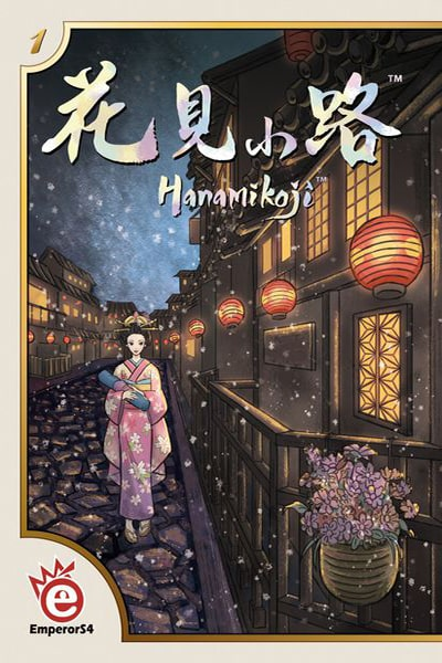 Hanamikoji-board game-Emperor S4-Dice and Counters
