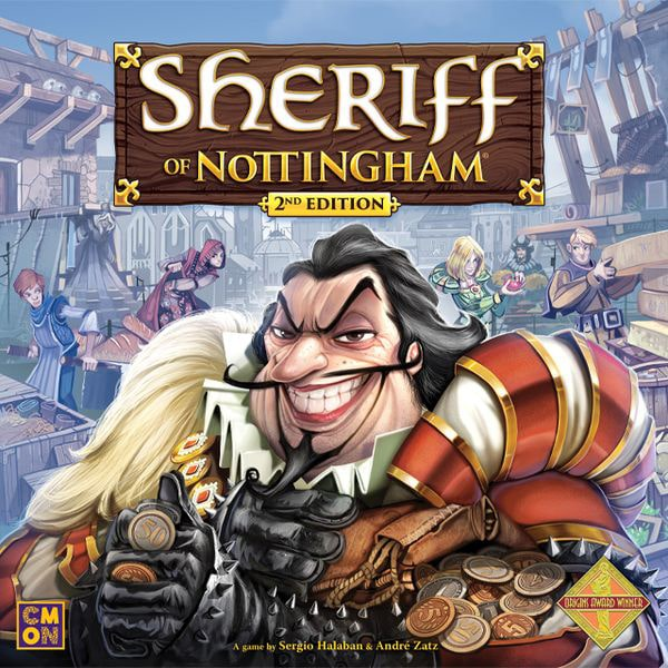 Sherrif of Nottingham 2nd Edition - board game - CMON - Dice and Counters