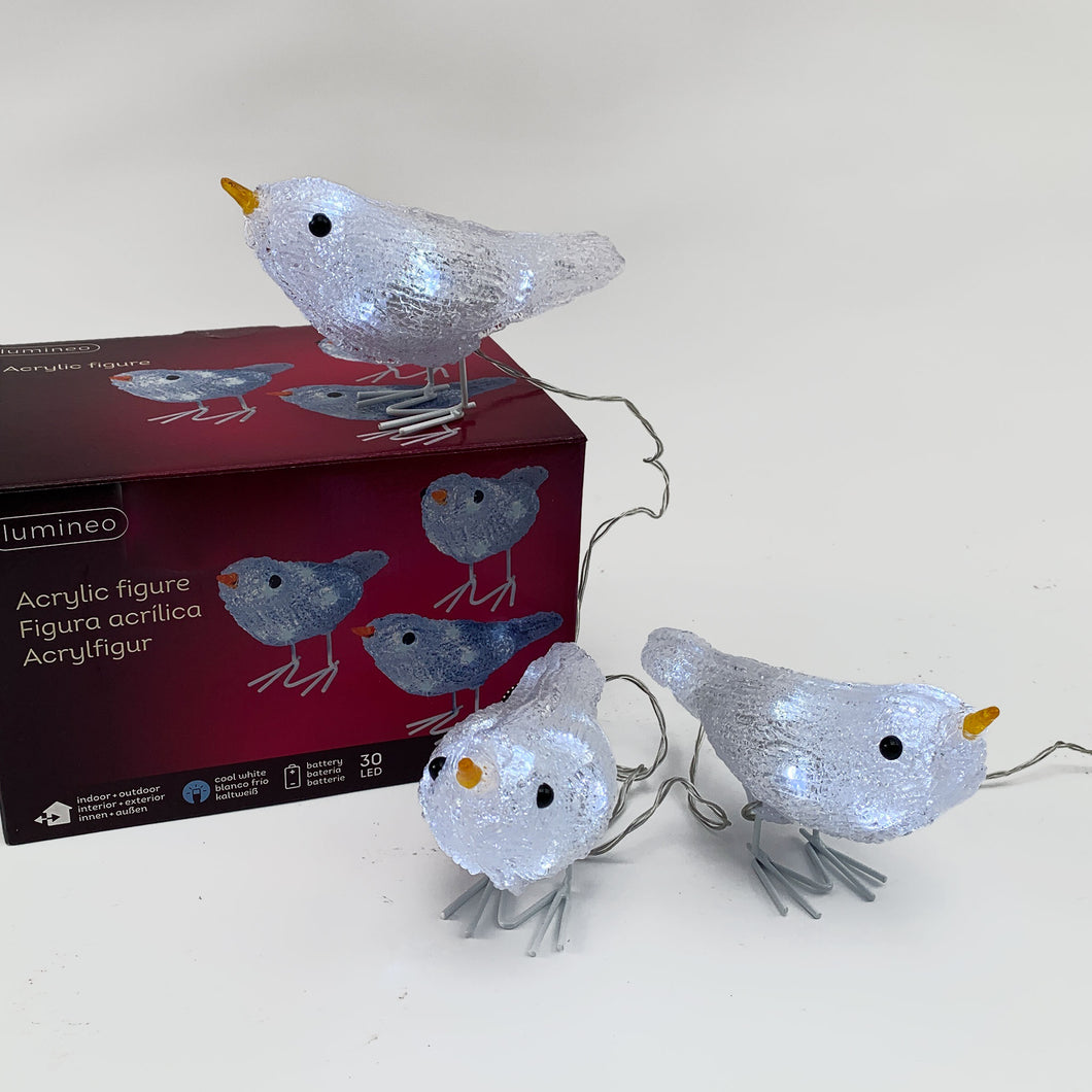 LED Bird Novelty Lights (Set of 3)