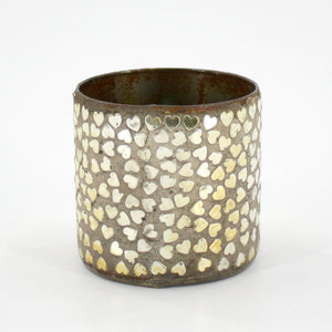 Metallic Gold Broken Hearts Planter