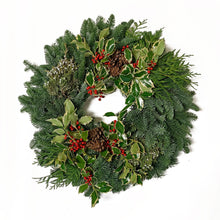 Load image into Gallery viewer, Fresh Christmas Wreath (Premium)