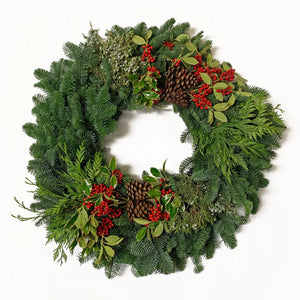 Fresh Christmas Wreath (Premium)