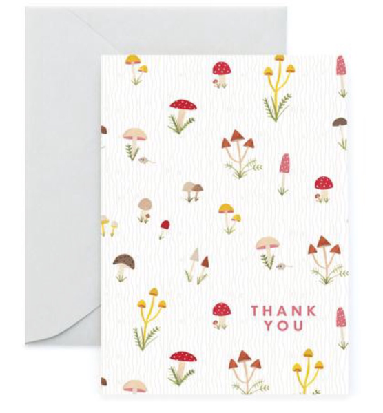 shrooming thank you card