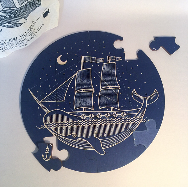 wooden narwhal ship puzzle