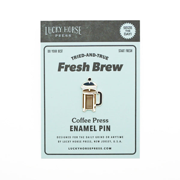 french press coffee pin