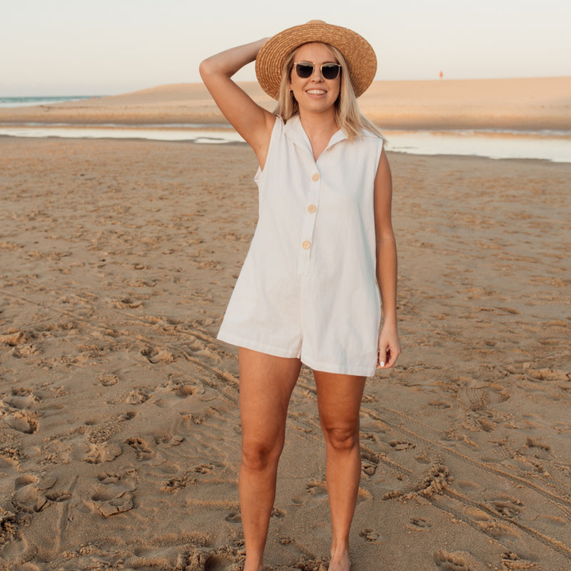 Bella Romper - White