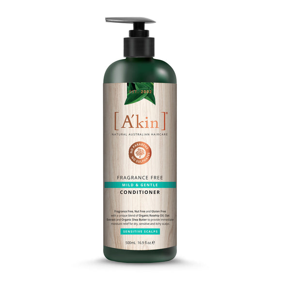 A'Kin Fragrance Free Mild & Gentle Hypoallergenic Conditioner 500ml