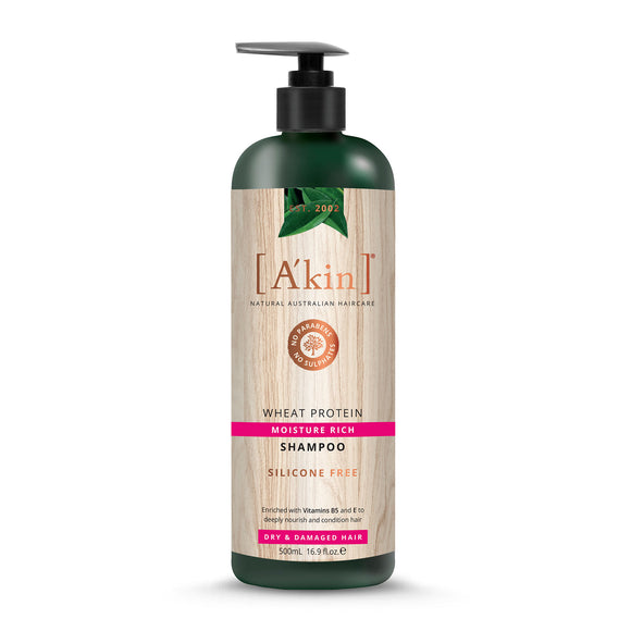 A'Kin Wheat Protein Moisture Rich Shampoo 500ml